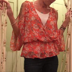 Soprano orange floral blouse
